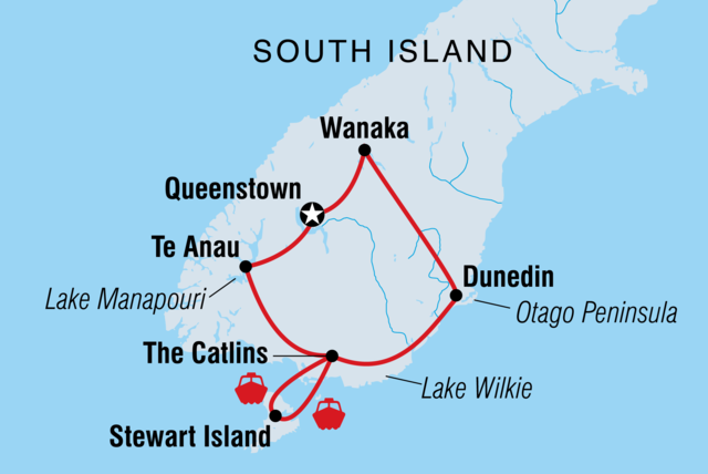 South Island Map Of New Zealand.New Zealand South Island Discovery Intrepid Travel