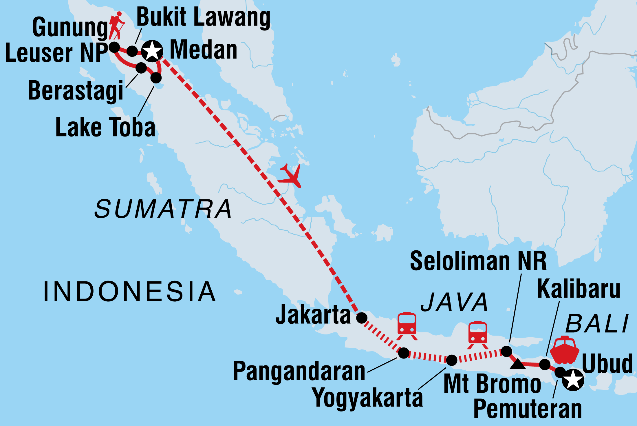 Sumatra Adventure | Intrepid Travel AU on map of east bali, map of wimauma, map of weh island, map of new guinea, map of west nusa tenggara, map of sri lanka, map of toba volcano, map of germany, map of thailand, map of borneo, map of lower india, map of indonesia, map of l.a. area, map of mount nyiragongo, map of malaya, map of tanjung pandan, map of sjaelland, map of malaysia, map of java, map of asia,