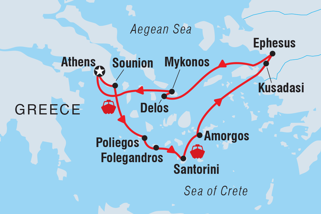Turkey And Greece Map.Greece Tours Travel Intrepid Travel Us