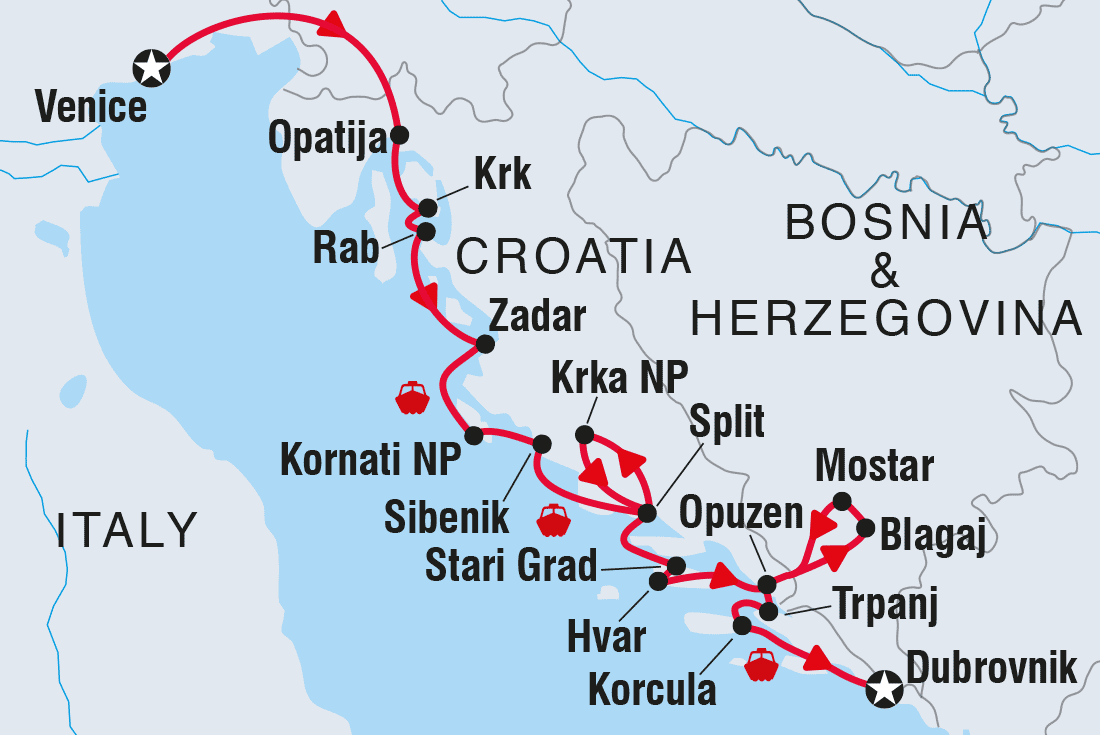 Cruise Croatia: Venice to Dubrovnik via Split | Intrepid Travel EU