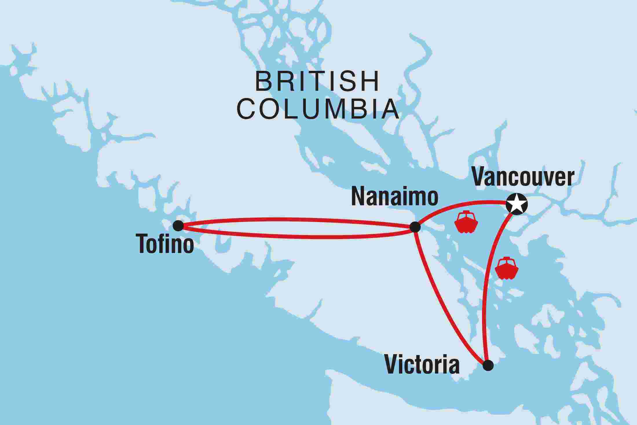 Map Of Canadian Rockies To Vancouver Island