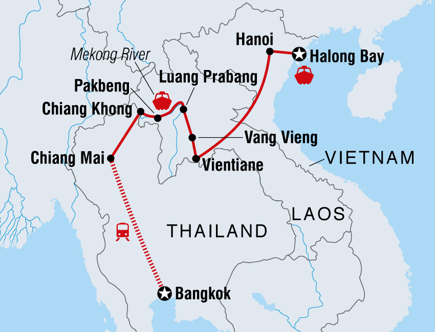Laos Tours Travel Intrepid Travel US - Travel from us to laos world map