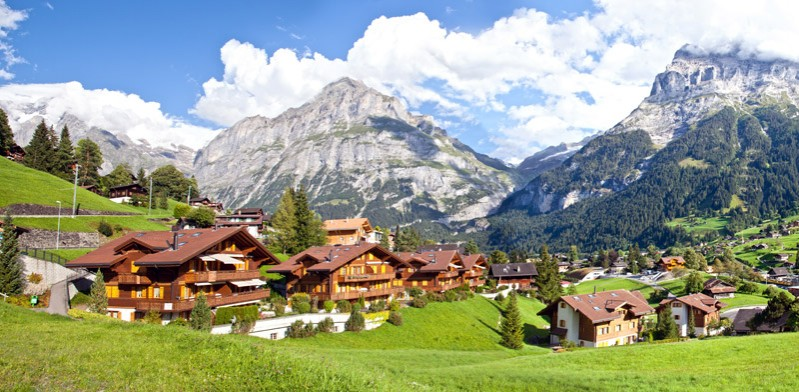 mountain village in switzerland