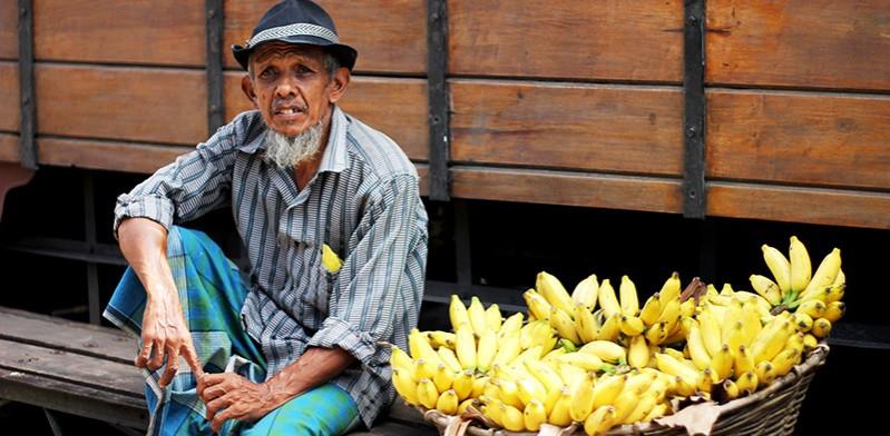 Man in Sri Lanka market