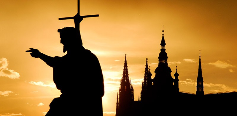 Silhouette of Prague Czech Republic Europe
