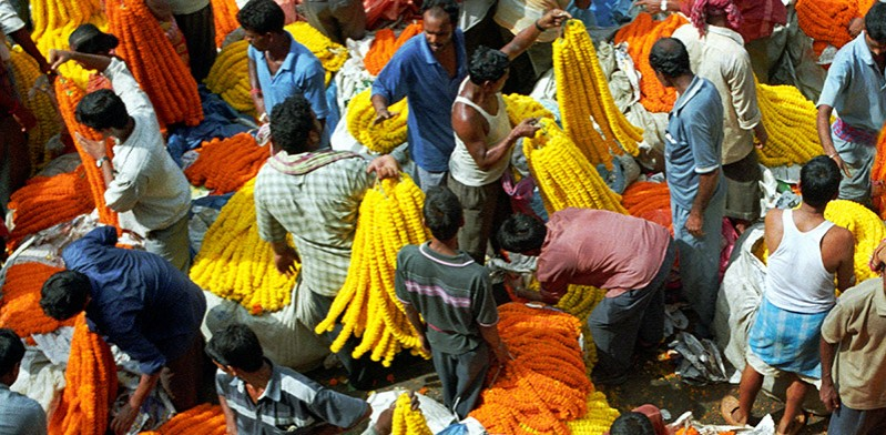 India flower market