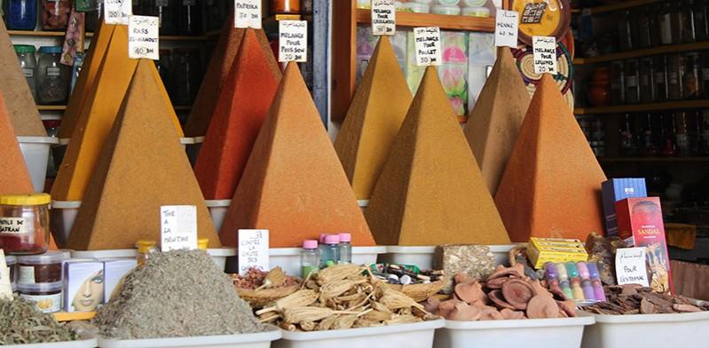 Marrakech spice store Morocco