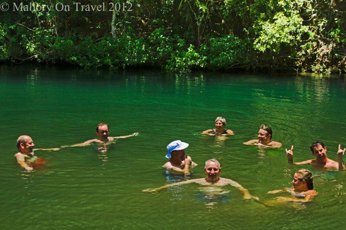 Natural swimming pool in Cuba