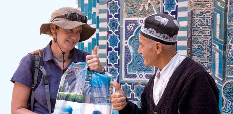 Local man in Uzbekistan
