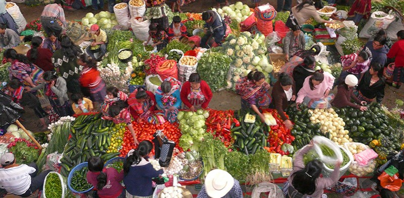 Chicastenango market in Guatemala by Liz Noonan
