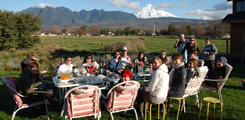 Festival lunch in Chile
