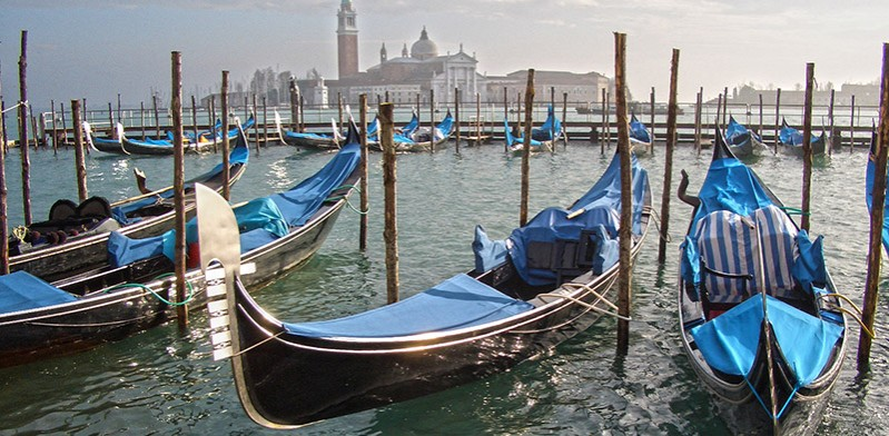 Gondolas of Venice Italy Europe
