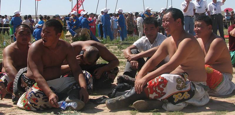 Wrestlers at Naadam Festival Mongolia