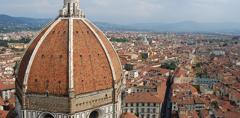 View of the duomo in Florence Italy by Lauren McLean