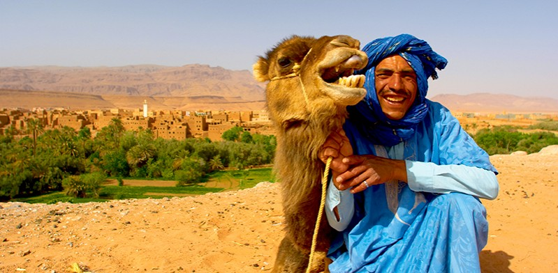 Moroccoan man with camel