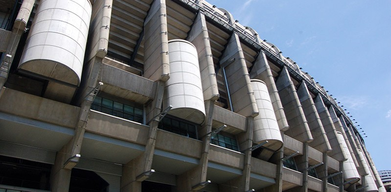 Impressive Bernabeu Stadium in Madrid Spain