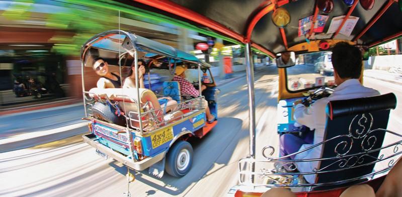 Bangkok Thailand tuk tuk ride