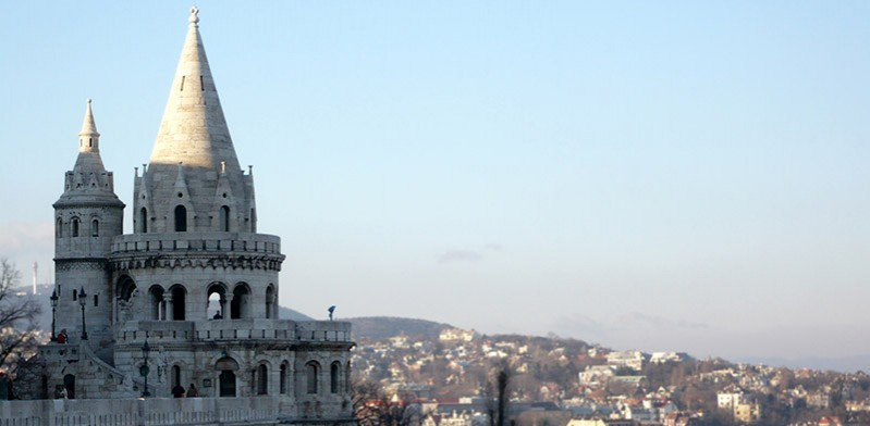 Castle and surrounds of Budapest Hungary