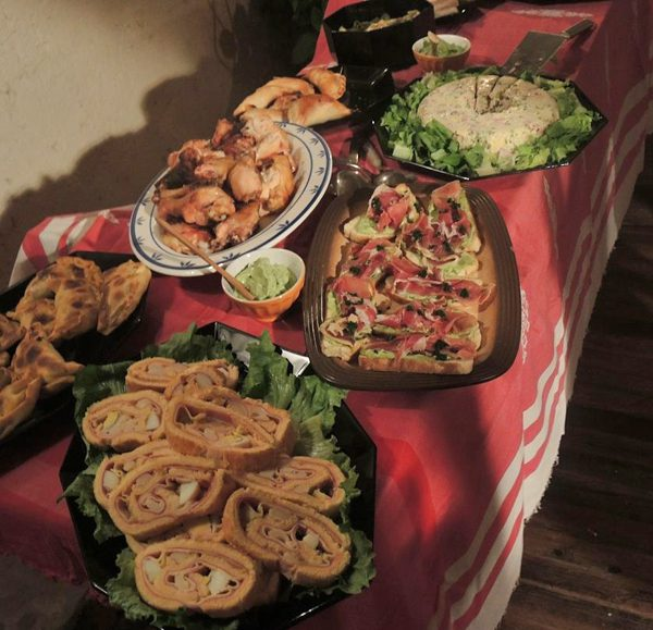 New Years Eve feast in Mendoza Argentina