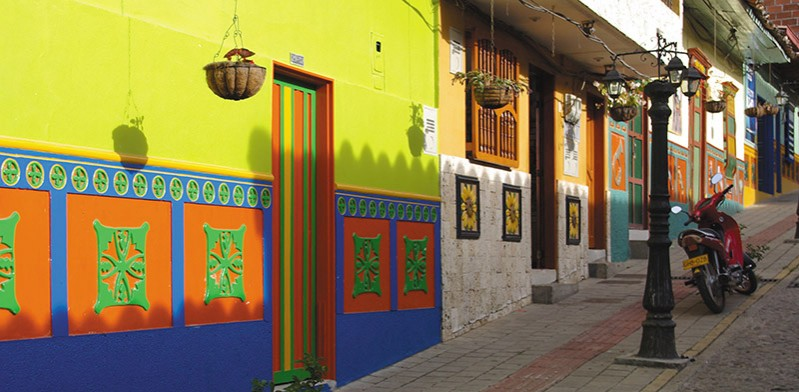 Colourful laneways of Colombia