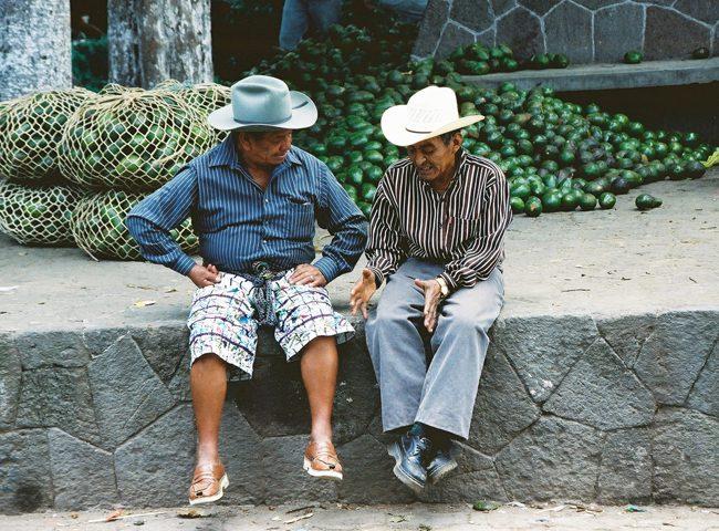 Men talking in Guatemala