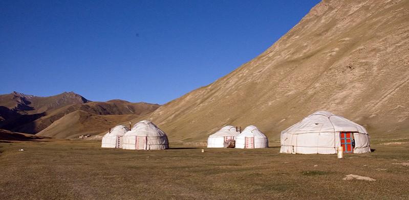 Yurts of Tash Rabat Kyrgyzstan