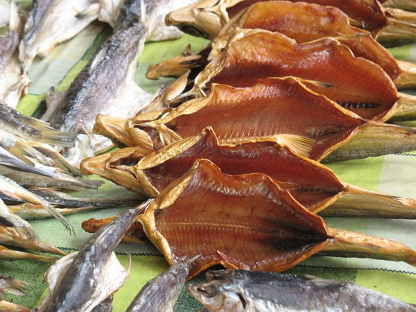 Dried fish is a local delicacy in Kyrgyzstan