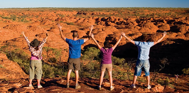 Intrepid Travel group in Central Australia