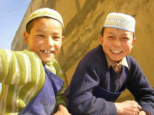 Hui muslim boys in Gansu province China