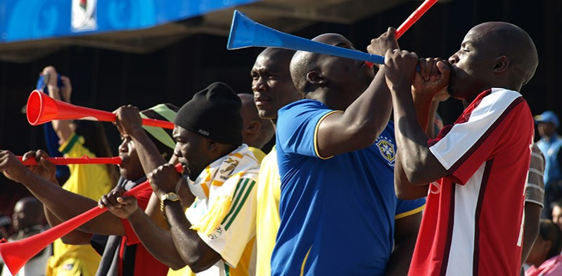 Sport supporters in South Africa