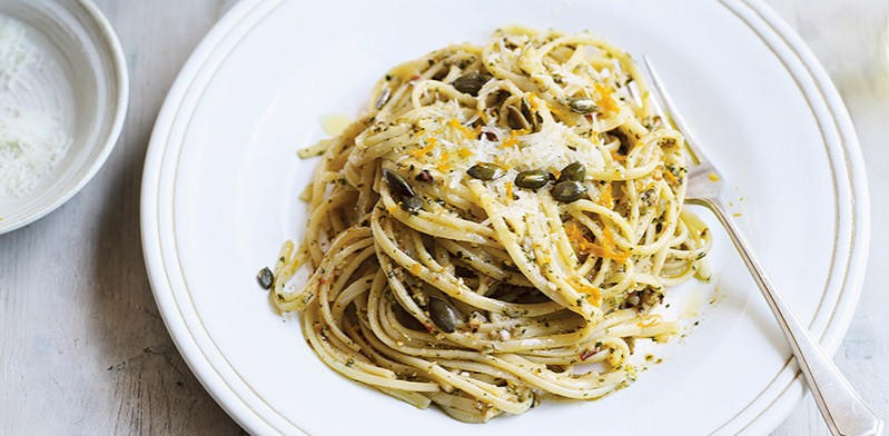 spicy pumpkin seed pesto by Thomasina Miers