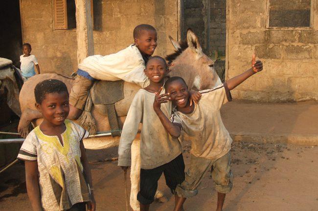 Playful kids in Ghana