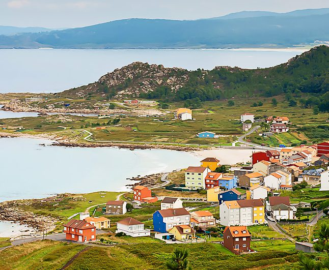 The village of Galicia Spain