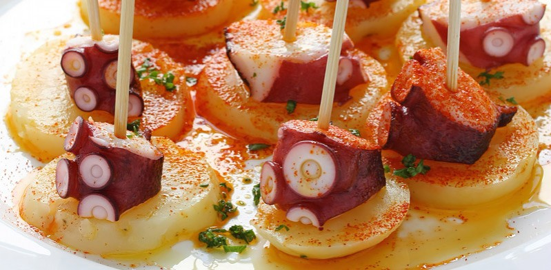 Delicious food in Galicia Spain
