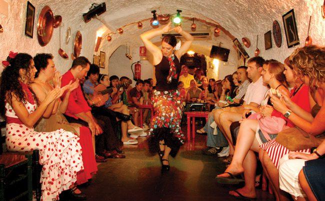 Flamenco dancers in Spain