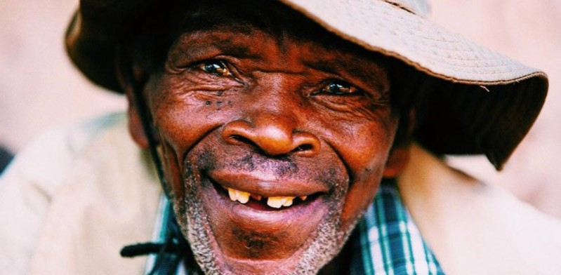 friendly local man in Uganda