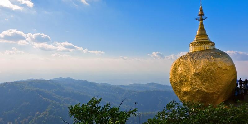 Burma gold rock