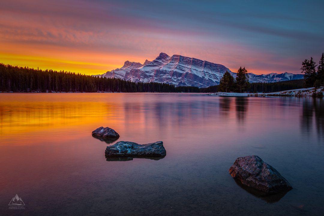 Two Jack Lake Sunrise - Callum Snape