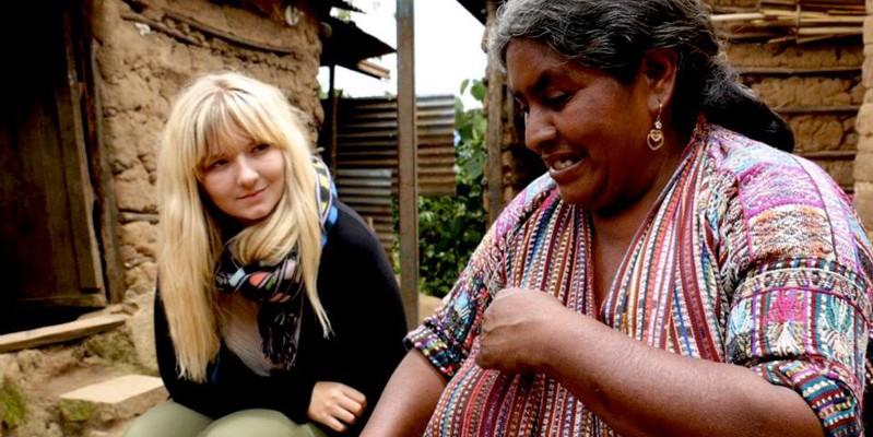 Village visit to artisan's house