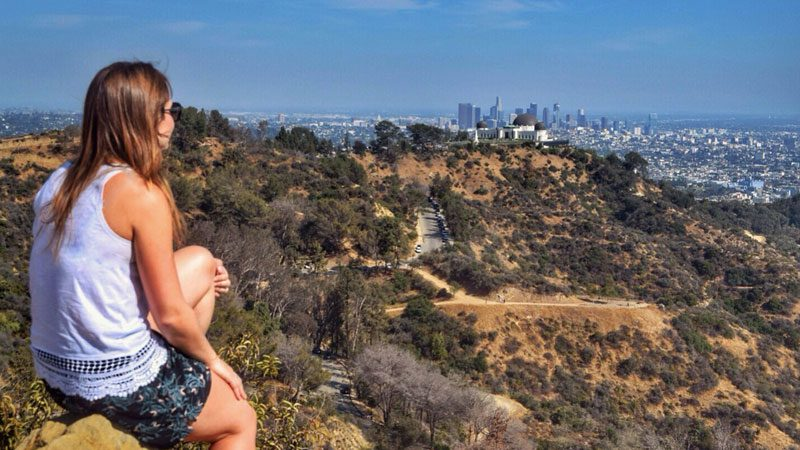 Solo travel, -looking-out-over-LA---Wanderlust-Chloe