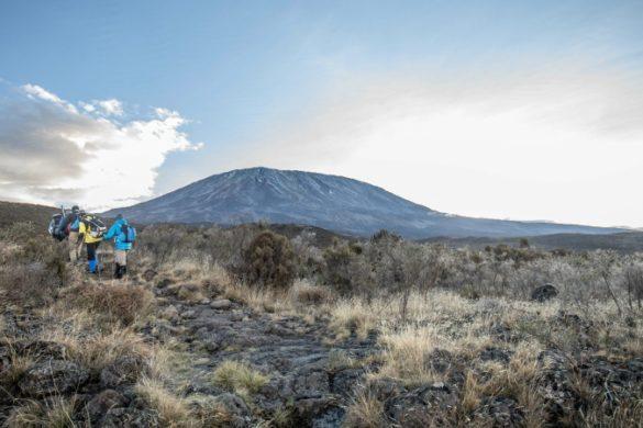 Trekkers on Mt Kilimanjaro Tanzania