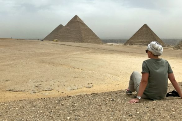 Author at the Pyramids in Cairo