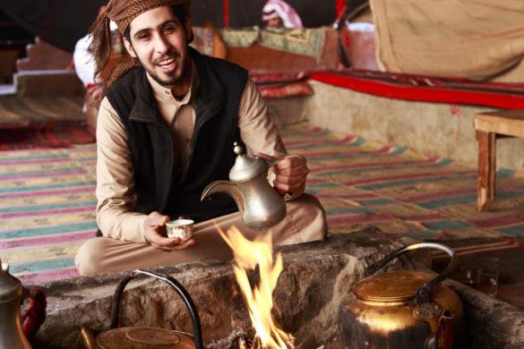 Tea in a Bedouin camp, Jordan