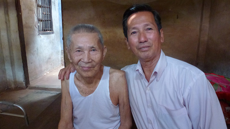 Author's father with his uncle